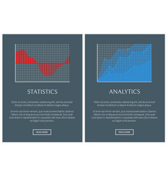 statistics and analytics in form of graphics set vector image