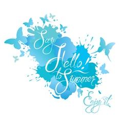 summer card water drop 380 vector image