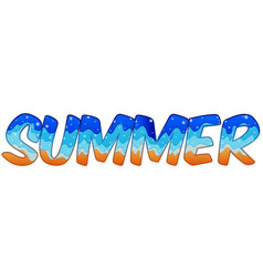 summer holiday text vector image