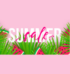 summer sale trendy banner modern colorful vector image