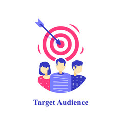Target audience focus group people customer vector