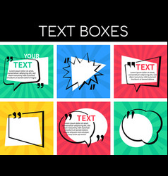text boxes collection - set elements vector image