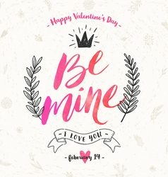 Valentines day hand drawn vector image