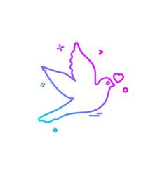 valentines day icon design vector image