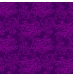 Violet floral seamless pattern vector image