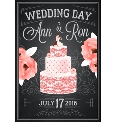 Wedding chalkboard poster vector