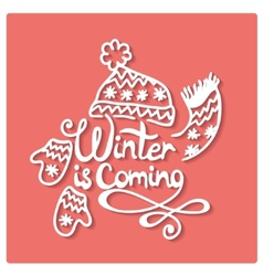 Winter is coming Christmas frame vector image