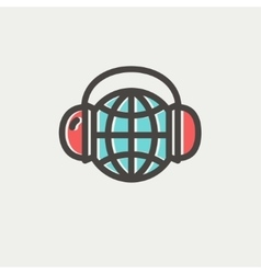 World music thin line icon vector image