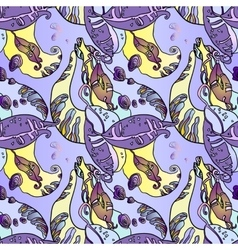 Abstract violet seamless floral pattern with beans vector image