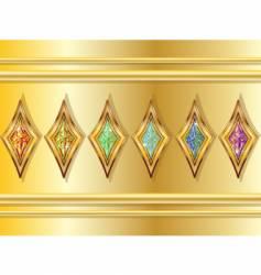 fictional diamonds set vector image vector image