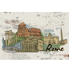 rome doodles vector image vector image