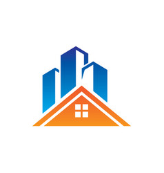 roof home skycrapter logo vector image vector image