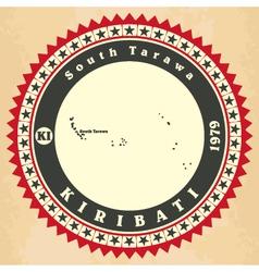Vintage label-sticker cards of Kiribati vector image