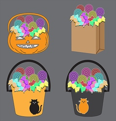 candy basket vector image