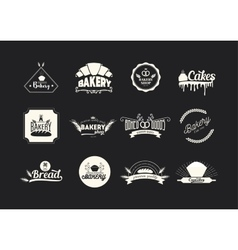 et of bakery logos badges and emblems Food vector image