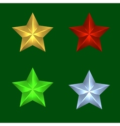four Christmas stars of vector image vector image