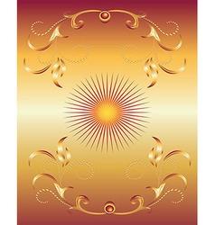 Golden Ornament Background vector image