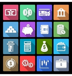 Money Finance Icons vector image