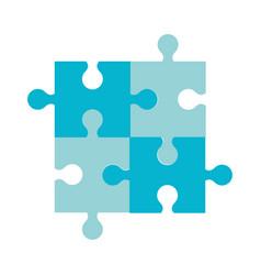 puzzle jigsaw team piece icon vector image