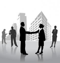 business arrangement vector image vector image
