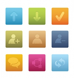 chat media icons square vector image vector image