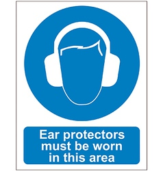 Ear protectors sign vector image