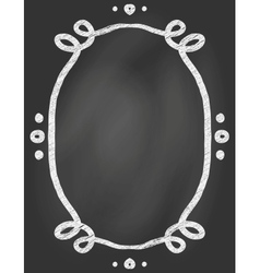 Frame on chalk borard vector image vector image