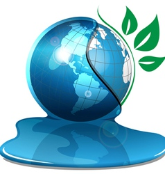 global water concept vector image vector image