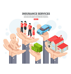 insurance services design concept vector image vector image