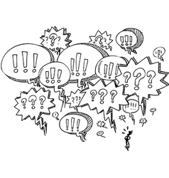 Man with speech balloons vector image