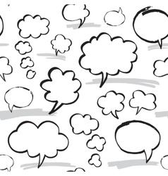 Marker Speech Bubbles Seamless Pattern vector image