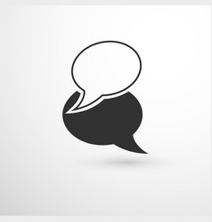 overlapping chat bubbles vector image vector image