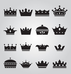 Set of Crowns Icons vector image