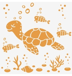 turtle silhouette vector image
