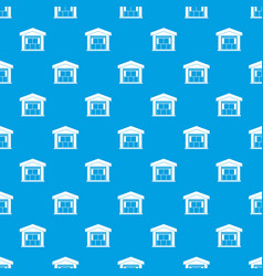 warehouse building pattern seamless blue vector image vector image