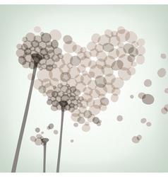 dandelion love vector image vector image