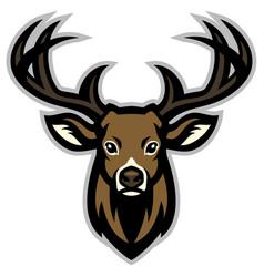Deer head mascot vector