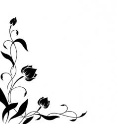 flower border pattern vector image vector image