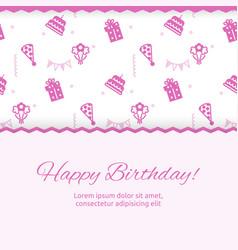 happy birthday poster design birthday party vector image