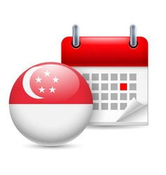 Icon of national day in singapore vector image