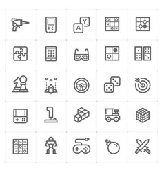 icon set - game and toy vector image vector image