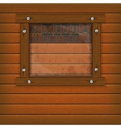 restaurant menu wooden frame and glass vector image