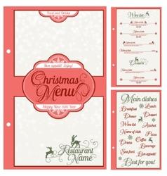 Special Christmas festive menu design vector image