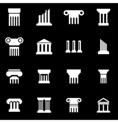 white column icon set vector image vector image