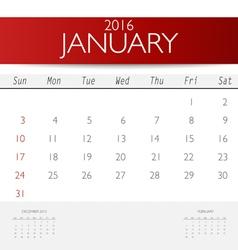 2016 calendar monthly calendar template for vector