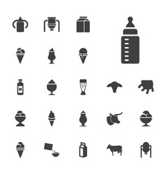 22 milk icons vector