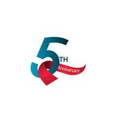5 th anniversary template design vector
