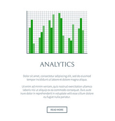 analytics chart with scale net banner vector image