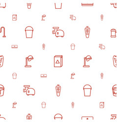 Appliance icons pattern seamless white background vector