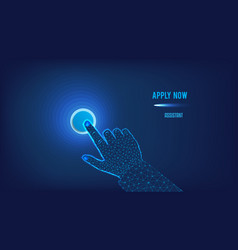 apply now - human resources concept button and vector image